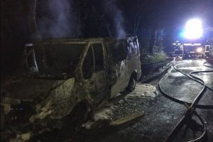 camper van gutted by fire