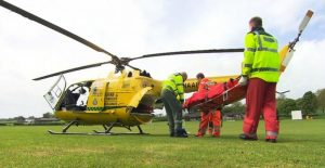 chale man airlifted to hospital after serious leg injury