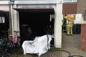 gosport garage gutted after tumble dryer fire
