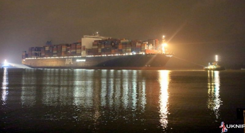 Hazardous Cargo Ship Runs Into Trouble On The Bramble Bank Off The Isle Of Wight