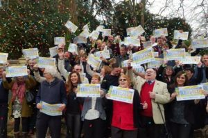 isle of wight families celebrate winning on postcode lottery in shanklin