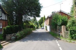 man jumps out in front of woman in sparsholt