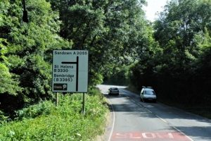man left with broken back following collision on the isle of wight