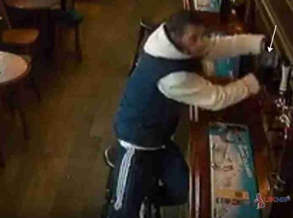 portsmouth charity box chancer caught on camera again