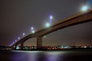 two vehicle crash closes southampton itchen bridge