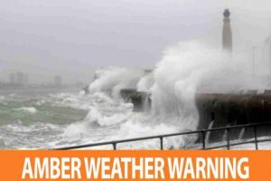 weather warning upgraded to amber in the south