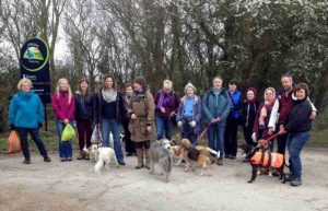 charity dog walkers aim for 3000