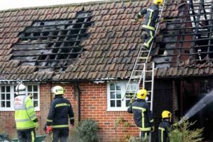 fire crews battle blaze in east tisted near alton