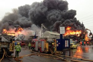 seventy fire fighters battle recycling centre blaze in birmingham