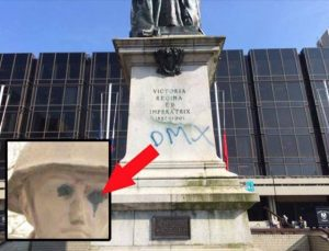 war memorial vandals leave clue to their identity