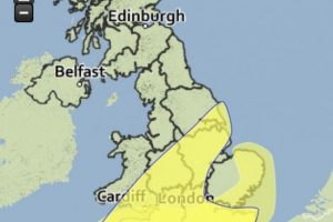 yellow weather warning issued as storm kate set to hit the south