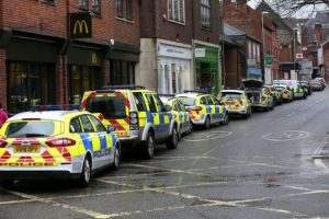 armed police swoop on winchester street after jewellery shop robbery