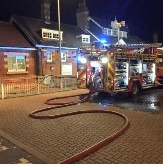 fire crews called to farnborough railway station after being attacked by objects