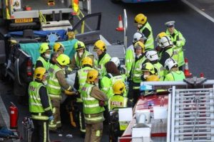 fire crews free trapped drivers in a31 collision in ringwood