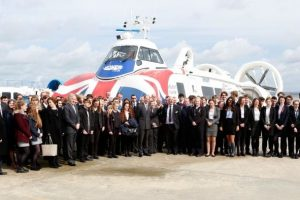 hrh the earl of wessex visits hovertravel to celebrate the success of the duke of edinburghs award