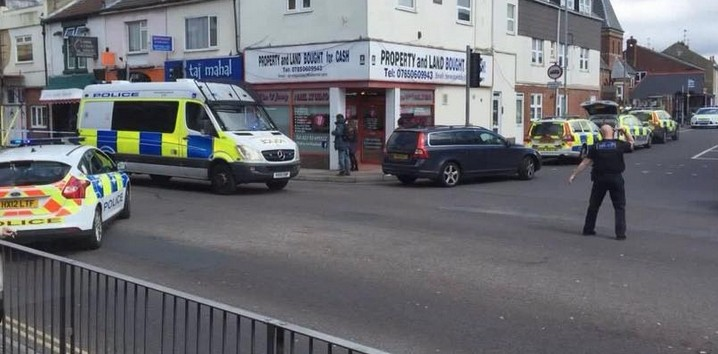 man detained by armed police in portsmouth