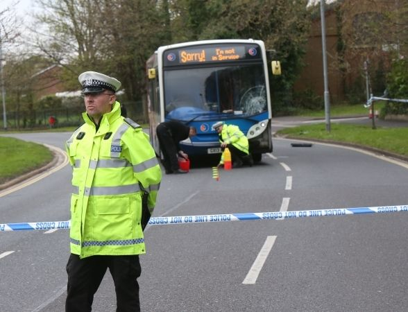 police appeal for witnesses after woman hit by bus in portsmouth