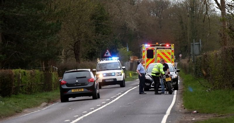 police close road following serious traffic collision