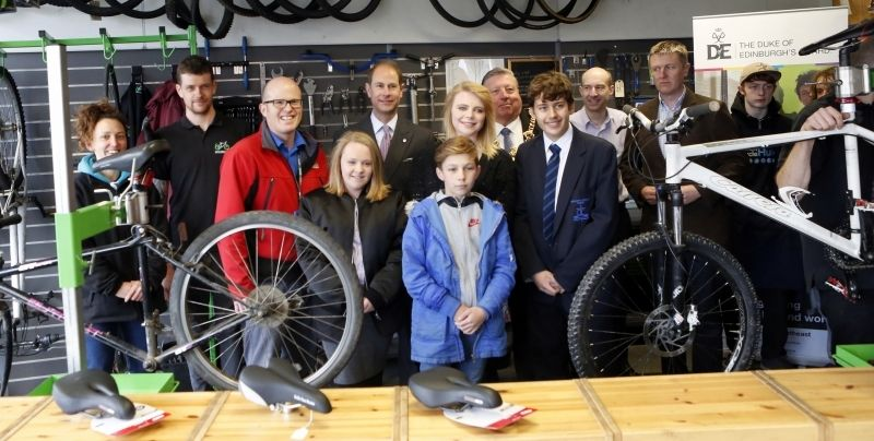 The Earl Of Wessex Visits Motiv8's Community Cycle Hub In Portsmouth  To Celebrate The Success Of The Duke Of Edinburgh's Award
