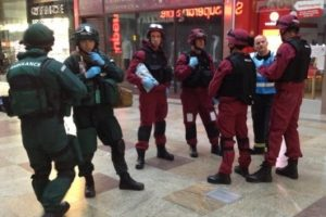 west quay shopping centre used as terror attack back drop 1