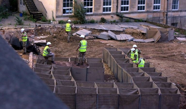 bath cordon remains in place as efforts to remove wwii device continue
