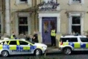 large police presence in sandown on the isle of wight following an incident