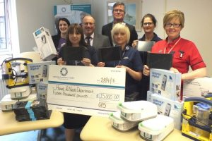 local golf society raise 15k for qa portsmouth hospital