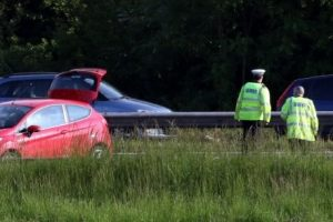 m27 fareham crash causes traffic chaos