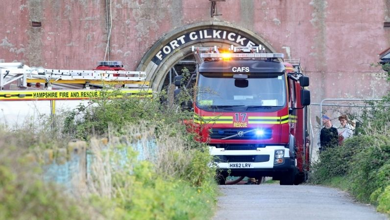 Arson probe launched as blaze rips through Fort Gilkicker, UKNIP