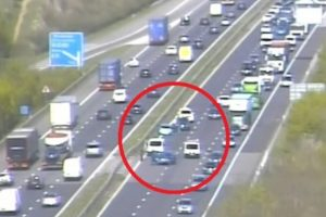 police close two lanes on the m3 following collision near winchester