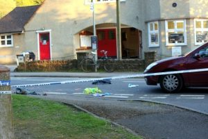 sad scene in the village of grayshott following collision