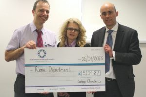southampton barristers donate 5k to qa renal unit