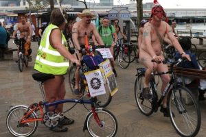 the world naked bike ride is back in portsmouth