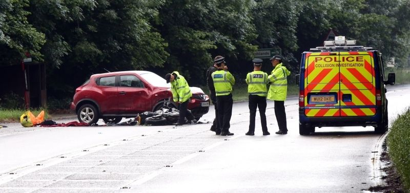 biker dies after fatal collision on the a36 death valley in west wellow