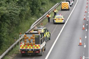 collision closes one lane of m3 in hampshire