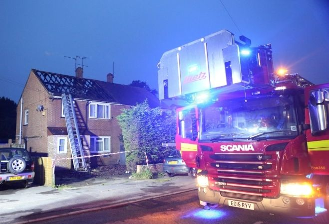 couple lose house after fire breaks out in conservatory in camberley