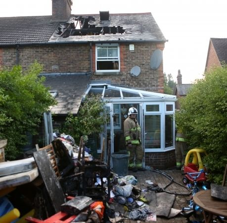 Family Left Homeless After Lighting  Strikes House In Surrey