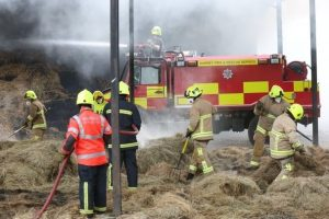 farmer praises fire crews for efforts in tackling two barn fires in farnham