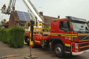 fire crews called to rescue man trapped on scaffolding