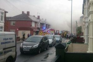 fire crews called to tackle blaze in portsmouth