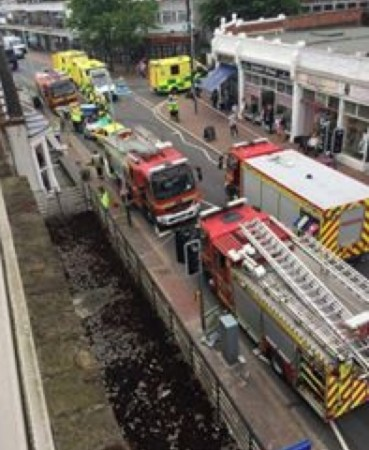 fire crews cut two people free in gosport