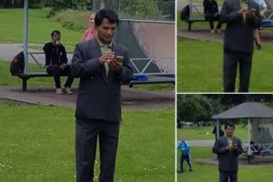 group of eastleigh mum stop strangers filming children in fleming park