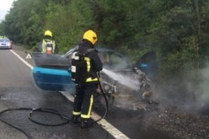 m27 motorway junction closed after vehicle fire