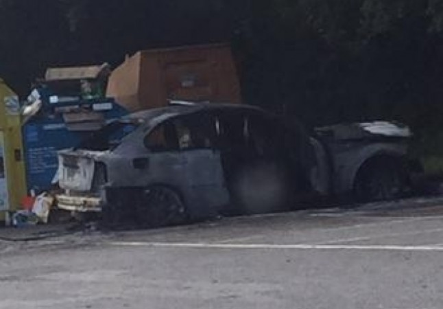 police appeal after man set car on fire with driver in it at locksheath centre