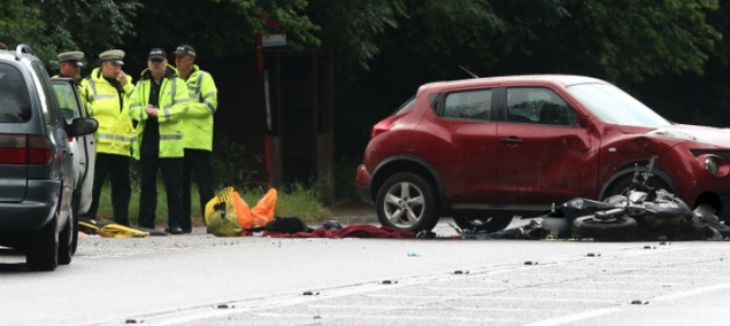 police close road after serious collision near west wellow