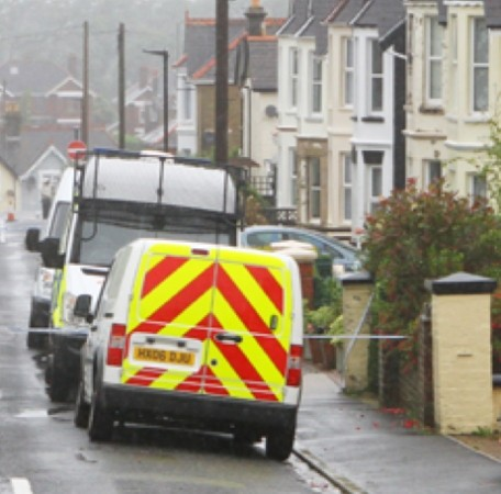 police seal off property after pensioners found in unexplained circumstances