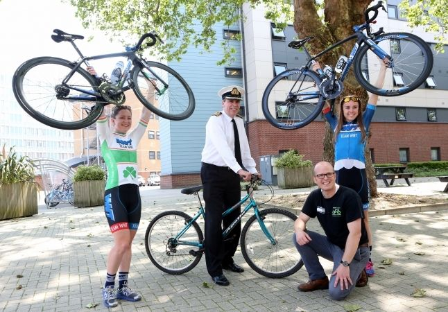 royal navy supports social enterprise bicycle recycling at naval base in portsmouth