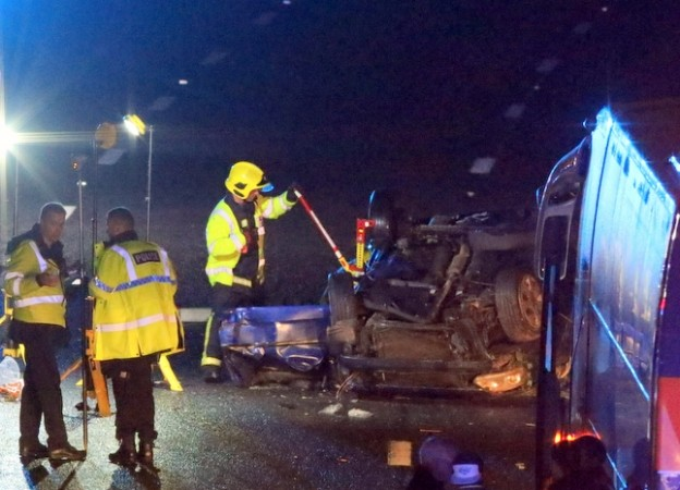 two left serious after horror crash on m27 near portsmouth