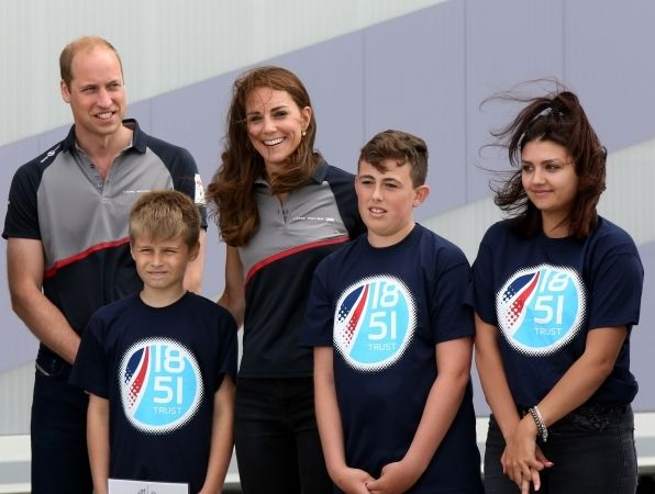 Duke And Duchess Of Cambridge Pay Portsmouth A Visit To See Boating  Chums