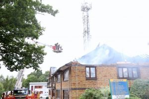 fire rips through business centre in bordon